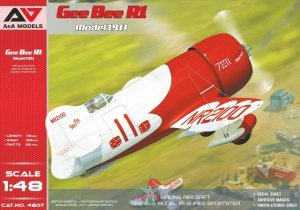 A&A Models 4807 Gee Bee R1 Model 1933 1/48