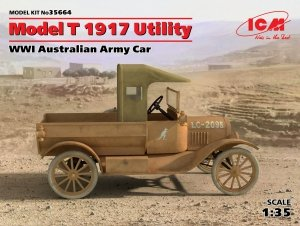 ICM 35664 Model T 1917 Utility WWI Australian Army Car (1:35)