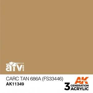 AK-Interactive AK 11349 CARC Tan 686A (FS33446) 17ml