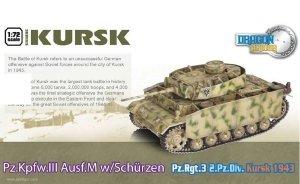 Dragon 60613 Pz.Kpfw.III Ausf.M w/Schurzen Pz. Rgt.3 2.Pz.Div. Kursk 1943 (1:72)
