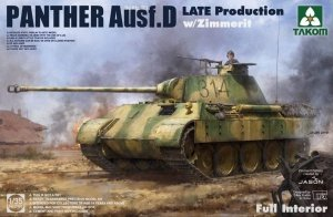 Takom 2104 Panther Ausf. D Late Production w/ Zimmerit Full Interior Kit 1/35