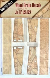 Das Werk DWA007 Wood Grain Decals Tailored to Ju-EF 126/127 1/32