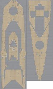 Pontos 35021WD1 HMS Repulse Wooden Deck set (1:350)