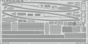 Eduard 53264 SMS Viribus Unitis railings TRUMPETER 1/350