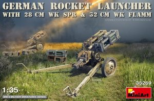 MiniArt 35269 GERMAN ROCKET LAUNCHER with 28cm WK Spr & 32cm WK Flamm (1:35)
