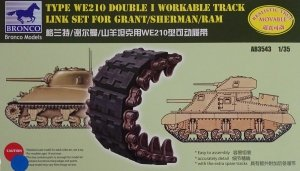 Bronco AB3543 Sherman Double I Workable Track Link Set 1/35