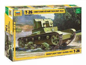 Zvezda 3542 Soviet Light Tank T-26 Model of 1932 1/35