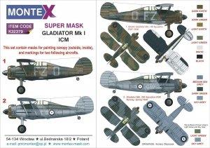 Montex K32379 Gladiator Mk I ICM 1/24