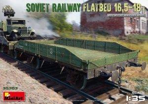 MiniArt 35303 Soviet Railway Flatbed 16,5-18t (1/35)