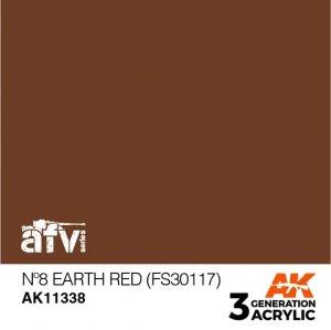 AK-Interactive AK 11338 Nº8 Earth Red (FS30117) 17ml