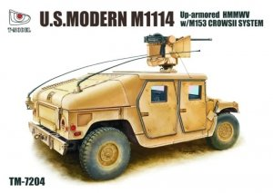 T-Model TM7204 U. S. Modern M1114 Up-Armored HMMWV w/M153 CrowsII System 1/72