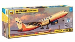 Zvezda 7031 Cargo airplane TU-204-100C 1/144