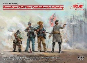 ICM 35021 American Civil War Confederate Infantry 1/35