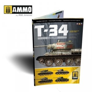 AMMO of Mig Jimenez 6145 T-34 Colors. T-34 Tank Camouflage Patterns in WWII (Multilingual)