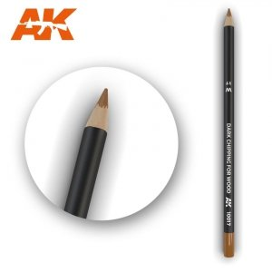 AK Interactive AK 10017 Watercolor Pencil DARK CHIPPING FOR WOOD