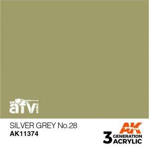 AK-Interactive AK 11374 Silver Grey No.28 17ml