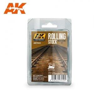 AK Interactive AK 7023 ROLLING STOCK WEATHERING SET