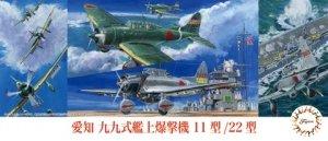 Fujimi 723334 C-39 Aichi Type 99 Carrier Dive Bomber Model 11/22 1/72