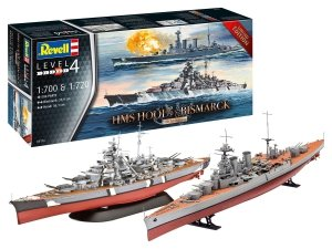 Revell 05174 HMS HOOD vs. BISMARCK - 80th Anniversary Limited Edition 1/700, 1/720