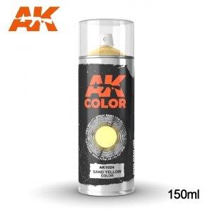 AK Interactive AK 1024 SAND YELLOW COLOR SPRAY 150ml
