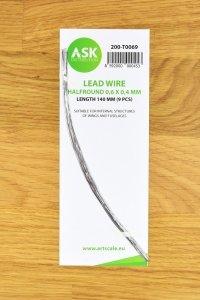 ASK T0069 Lead Wire - Halfround 0,6 x 0,4 x 140 mm (9 pcs)