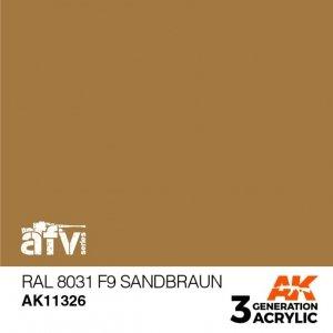 AK-Interactive AK 11326 RAL 8031 F9 Sandbraun 17ml