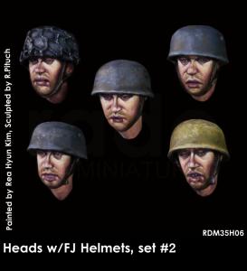 RADO Miniatures RDM35H06 Heads w/FJ  hemetes set 2 1/35