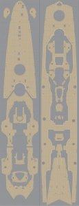 Pontos 35017WD1 DKM Printz Eugen Wooden Deck set (1:350)