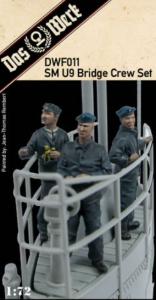 Das Werk DWF011 SM U9 Bridge Crew Set Includes three resin figures for our u-boat ( DW72001 ) 1/72