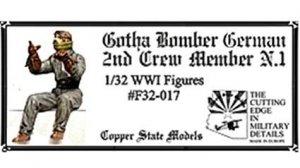 Copper State Models F32-017 Gotha Bomber German 2nd Crew Member N.1 1:32