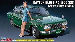 Hasegawa SP477 52277 Datsun Bluebird 1600 SSS w/60's Girl's Figure 1/24
