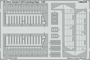 Eduard 481014 Hunter F.4/F.5 landing flaps for AIRFIX 1/48