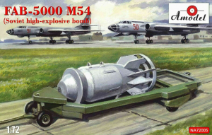 Amodel NA 72005 FAB-5000 M-54 Soviet high explosive bomb plastic model kit 1/72