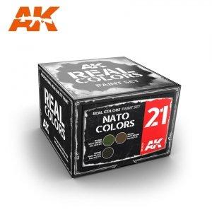 AK Interactive RCS021 NATO COLORS SET (3x10ml)
