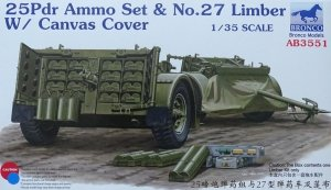Bronco AB3551 25 Pdr Ammo No.27 Limber W/Canvas Cover 1/35