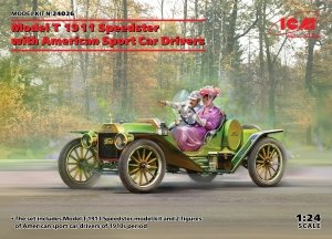 ICM 24026 Model T 1913 Speedster with American Sport Car Drivers 1/24