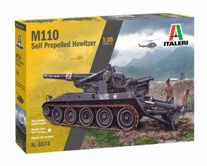 Italeri 6574 M110 Self Propelled Howitzer 1/35