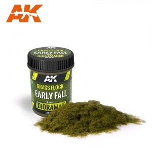 AK Interactive AK AK 8221 GRASS FLOCK 2MM EARLY FALL / Posypka trawa