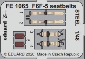 Eduard FE1065 F6F-5 seatbelts STEEL 1/48 EDUARD