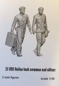 Glowel Miniatures 35028 Italian tank crewman and officer 1/35