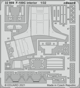 Eduard 32989 F-100C interior TRUMPETER 1/32