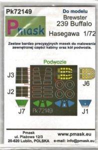 P-Mask PK72149 Brewster B-239 Buffalo (Hasegawa) 1/72