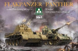 Takom 2105 Flakpanzer Panther Coelian with 37mm Flakzwilling 341 & 20mm flakvierling mg151/20 2 in 1 1:35