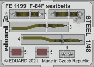 Eduard FE1199 F-84F seatbelts STEEL KINETIC 1/48