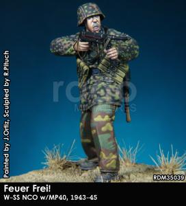 RADO Miniatures RDM35039 Feuer Frei W-SS NCO w/Mp-40 1943-45 1/35