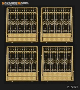 Voyager Model PE72023 European Iron Fence (Pattern 2) for all  1/72