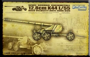 Great Wall Hobby L3523 WWII German Rheinmetall 12.8cm K44 L/55 High Velocity Anti-Tank Gun 1/35
