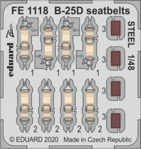 Eduard FE1118 B-25D seatbelts STEEL 1/48 REVELL