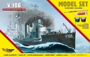 Mirage Hobby 840064 V106 Niemiecki Okręt Torpedowy z I WŚ 1/400 Model set