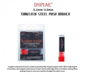 DSPIAE PB-04 0.4mm Tungsten Steel Push Broach / Rysik ze stali wolframowej